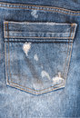 Blue jeans trouser on the white background Stock Image