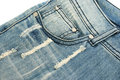 Blue jeans on white background Royalty Free Stock Photo
