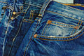 Blue jeans a wide selection of and denim clothing Stock Image