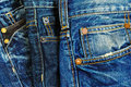 Blue jeans a wide selection of and denim clothing Stock Photography