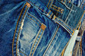 Blue jeans a wide selection of and denim clothing Royalty Free Stock Photo