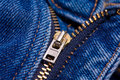 Blue jeans zipper Stock Image