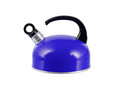 Blue kettle isolated Royalty Free Stock Photo