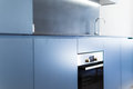 Blue Kitchen Cabinets Royalty Free Stock Photo