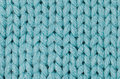Blue knitted wool Stock Image