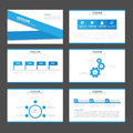 Blue label Infographic elements icon presentation template flat design set for advertising marketing brochure flyer Royalty Free Stock Photo