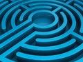 Blue labyrinth Stock Photos