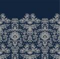 Blue lace border background Royalty Free Stock Photo
