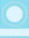 Blue lace design element greeting card Royalty Free Stock Photos