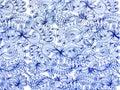 Blue lace pattern Royalty Free Stock Photo