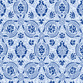Blue lace Seamless abstract floral pattern vintage background Royalty Free Stock Photo