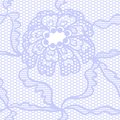 Blue lace vector fabric seamless pattern Royalty Free Stock Photo