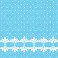 Blue Lacy Polka Dot Background