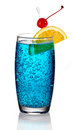 Blue lagoon cocktail Royalty Free Stock Photo