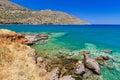 Blue lagoon of Elounda Bay on Crete Royalty Free Stock Photo