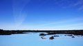 Blue lagoon geothermal water in iceland near reykjavik Stock Photography