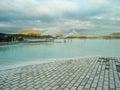 Blue lagoon iceland lake near reykjavik Stock Photos