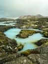 Blue lagoon iceland lake near reykjavik Royalty Free Stock Photography