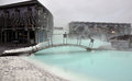 Blue lagoon thermal spa in iceland Royalty Free Stock Photography