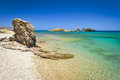 Blue lagoon of Vai beach on Crete Stock Images