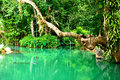 Blue lagoon in Vang Vieng, Laos Royalty Free Stock Photo