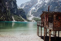 The Blue Lake in the Dolomites Royalty Free Stock Photo