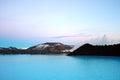 Blue lake peaceful or sea Stock Photo