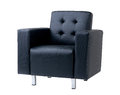 Blue leather armchair Royalty Free Stock Photo