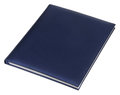 Blue leather notebook isolated on white Royalty Free Stock Image