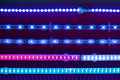 Blue led light tapes Stock Image