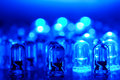 Blue LEDs Royalty Free Stock Photo