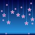 Blue light background flower Royalty Free Stock Photo