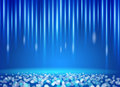 Blue Light and Blurred colored background vector Royalty Free Stock Photo