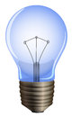 A blue light bulb illustration of on white background Royalty Free Stock Image