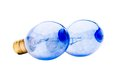 Blue light bulbs Royalty Free Stock Photo