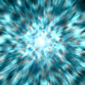 Blue light burst zoom Royalty Free Stock Images