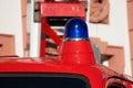 Blue light fire brigade car