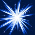Blue light, star burst, stylised fireworks Royalty Free Stock Photo