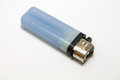 Blue lighter isolate on a white background Royalty Free Stock Photo