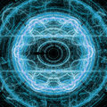 Blue Lightning Circle Fractal Art Concept With Shining Royalty Free Stock Photo