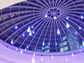 Blue lights falling dome Stock Photography