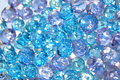 Blue and lilac crystal beads Royalty Free Stock Photo
