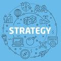 Blue Line Flat Circle illustration strategy