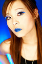 Blue Lips Royalty Free Stock Photo