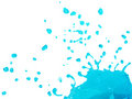 Blue Liquid Splashing and Falling Royalty Free Stock Photo