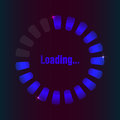 Blue loading bar with special plasma design Royalty Free Stock Images