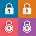 Blue lock icon Royalty Free Stock Photo