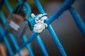 Blue lock wedding Royalty Free Stock Photo