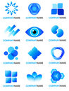 Blue logo collection Royalty Free Stock Photo