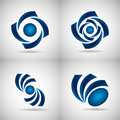 Blue logos Royalty Free Stock Photo